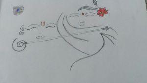 Easy Drawing Lord Krishna Easy Pencil Sketching Of Radha Krishna so Simple N Just Amazing