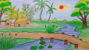 Easy Drawing Nature Scenes Nature Sketch for Kids at Paintingvalley Com Explore Collection Of
