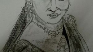 Easy Drawing Of Bahubali 2 Bahubali 2 Sketch Of Anushka Shetty Sketching Of Devsena