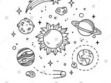 Easy Drawing Of the solar System Hand Drawn solar System with Sun Planets asteroids and