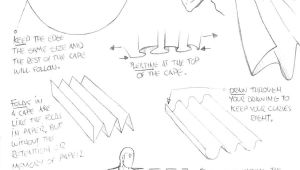Easy Drawing References How to Draw Tutorial Drawing A Cape for Comic Manga Panel