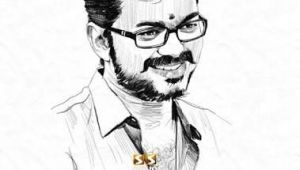 Easy Drawing Vijay Actor Vijay Drawing Art In 2019 Actors Actors Images Vijay Actor
