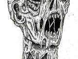 Easy Drawing Zombie Zombie Drawings In Pencil Robot Zombie by Ayillustrations