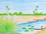 Easy Drawings About Nature How to Draw Scenery Of Autumn Season Step by Step Very Easy Easy