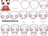 Easy Drawings and Steps How to Draw Cute Chibi Superman From Dc Comics In Easy Step by Step
