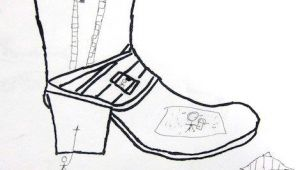 Easy Drawings for Grade 3 Contour Line Shoe Drawings by 3rd and 4th Graders Shoe Art