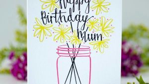 Easy Drawings for Your Mom S Birthday Mum S Happy Birthday Card Betty Etiquette Stationery Happy