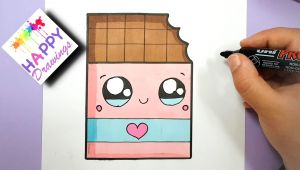 Easy Drawings Kawaii Nutella How to Draw Cute Chocolate Bar with A Love Heart Super Easy Youtube