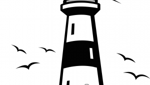 Easy Drawings Lighthouse Lighthouse Vector Clip Art Nautical Silhouettes Vectors Clipart