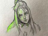 Easy Drawings Of Billie Eilish Billie Eilish Billie Eilish Art Sketches Billie