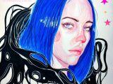 Easy Drawings Of Billie Eilish Billie Eilish Colored Pencil Drawing