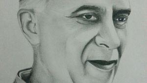 Easy Drawings Of Jawaharlal Nehru Easy Pencil Drawings Of Faces Drawing Of Jawaharlal Nehru Using