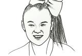 Easy Drawings Of Jojo Siwa Printable Jojo Siwa Coloring Pages Jowo