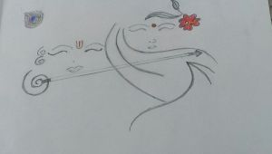 Easy Drawings Of Krishna Easy Pencil Sketching Of Radha Krishna so Simple N Just Amazing