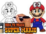 Easy Drawings Of Undertale How to Draw Super Mario Super Mario Odyssey