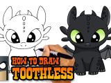 Easy Drawings Of Undertale How to Draw toothless How to Train Your Dragon