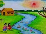 Easy Drawings Of Village 161 Best Drawing for Kids Images