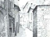 Easy Drawings Of Village Example Of One Point Perspective Drawing On A Street Image