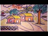 Easy Drawings Of Village How to Draw A Village Scenery Very Easy Way to Drawing Cool