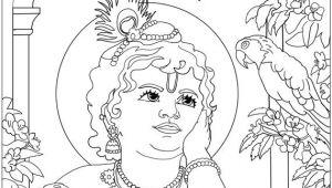 Easy Drawings On Janmashtami Shri Krishna Janmashtami Coloring Printable Pages for Kids Pencil