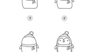 Easy Drawings Penguin Draw A Penguin Jahreszeiten Pinterest Christmas Drawings Und