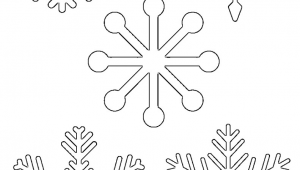 Easy Drawings Snowflakes Free Printable Snowflake Templates Large Small Stencil Patterns