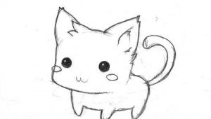 Easy Drawings with Colour Simple but Cute Cat It S Easy to Colour In and Make It Your Own