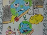 Easy Drawings with Poster Colours Digimon Masters Save Our Earth Poster Making Contest Digimon