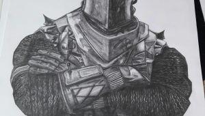 Easy Knight Drawings Black Knight fortnite Drawing 30 X 40 Cm Art In 2019 Drawings