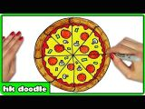 Easy Pizza Drawing 1 How to Draw A Pizza Easy Step by Step Drawing Tutorials