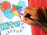 Easy Pretty Drawings How to Draw A Kite Easy Drawing