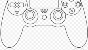 Easy Ps4 Controller Drawing Drawn Controller Ps1 Ps4 Controller Drawing Easy Png Image