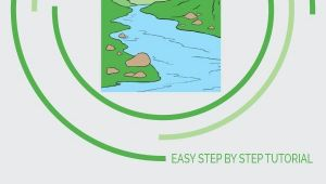 Easy River Drawing How to Draw A River Really Easy Drawing Tutorial Flowers