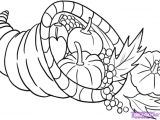 Easy Thanksgiving Drawings Cornucopia How to Draw A Cornucopia Step by Step