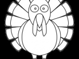 Easy Thanksgiving Drawings Free Download 999 Turkey Clipart Black and White Turkey