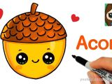 Easy Thanksgiving Drawings How to Draw A Cute Acorn Easy Youtube Easy Disney