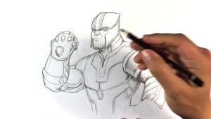 Easy Thanos Drawing Drawing Thanos From Infinity War Sketch Monster