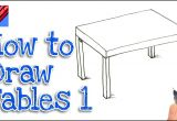 Easy to Draw Cash Register How to Draw A Table Real Easy Step by Step 1