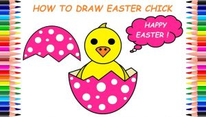 Easy to Draw Easter Chick How to Draw Easter Chick Kako Nacrtati Uskrsno Pile