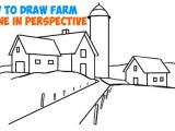 Easy to Draw Fall Pictures How to Draw Farm Scene Fall Spring Scene In Three Point