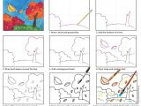 Easy to Draw Fall Pictures Paint A Fall Landscape Landscape Drawing for Kids