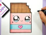 Easy to Draw Ice Cream How to Draw Cute Chocolate Bar with A Love Heart Super Easy