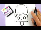 Easy to Draw Ice Cream Youtube Bilder Malen Einfach Selber Malen Und Kawaii Kunst