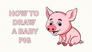 Easy Way to Draw A Pig How to Draw A Fire Baby Animal Drawings Baby Pigs Easy