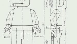 Engineering Drawing Cartoons Minifigure Lego Drawings Lego Lego Design