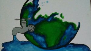 Environment Easy Drawing Save Water Save Life Acrylic Painting Canvas Environment