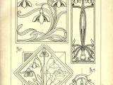 Flower Motifs Drawing Vintage How to Draw Sketch Design Art Nouveau Artist Pencil Signs 50