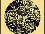 Flowers Drawing Circle Circle Background ornamental Decorative Drawing Vector Artwork