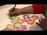 Flowers Drawing Easy with Color Gradient Flowers Color Pencil Tutorial Youtube Art Stuff