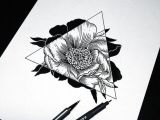 Flowers Geometric Drawing Art Drawing Flowers Hipster Sketch Triangle Tattoo Negativo